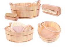 Objects for spa, bath and sauna Stock Photography