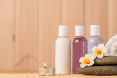 Objects for spa treatments closeup. In spa salon Royalty Free Stock Images