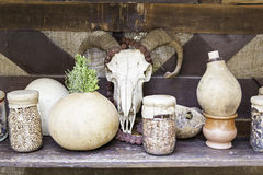 Objects for spells and witchcraft Stock Photos
