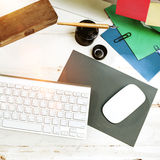 Objects Stationery Workplace Workspace Equipment Concept Stock Photos