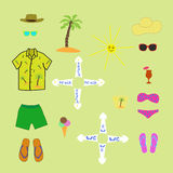 Objects summer vacation Stock Photography