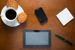 Objects on the table in the office close-up Royalty Free Stock Images