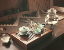 Objects for tea ceremony Stock Photos