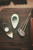 Objects for tea ceremony Stock Photo