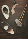 Objects for tea ceremony Stock Image
