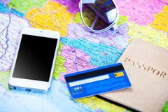 Objects for travel Royalty Free Stock Photography
