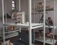Objects at Ventura Lambrate space during Milan Design week Stock Image