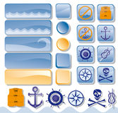 Objects for web, sea Stock Photography