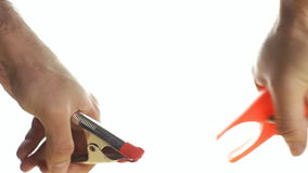Objects white pliers stock footage