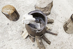 Objects of witchcraft. Witchcraft objects, object detail for witchcraft, halloween Stock Photo