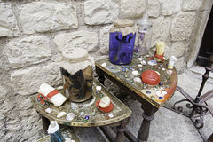 Objects of witchcraft. Witchcraft objects, object detail for witchcraft, halloween Stock Images