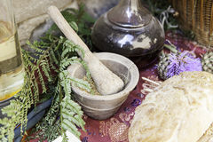 Objects of witchcraft. Witchcraft objects, object detail for witchcraft, halloween Stock Photography