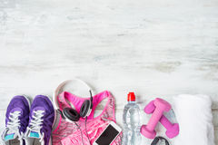 Objects for workout Royalty Free Stock Photo