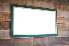 objekt över vitt trä för signboard royaltyfria bilder