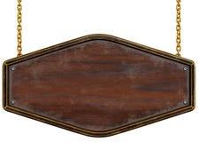 objekt över vitt trä för signboard Royaltyfria Foton