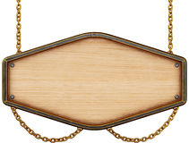 objekt över vitt trä för signboard Arkivfoton