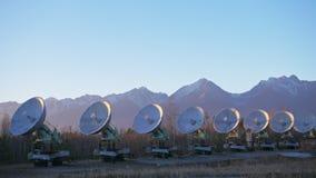 Objekt av institutet av sol- jordisk fysik Sol- radioteleskop för unik samling Sol- radioteleskop Satellit arkivfilmer