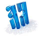 objekt 3D från exponeringsglaset på en vit Fotografering för Bildbyråer