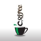 Objekt eller symbo för kaffe grafiskt Arkivbilder