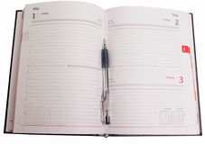 objekt för affärskopieringsdagbok öppnar lokal till arkivbild