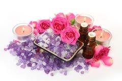 Objekt för aromatherapy och massage arkivfoto