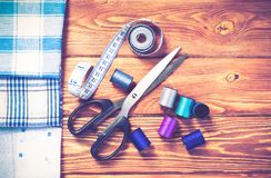 Objekt för att sy eller DIY Arkivbilder