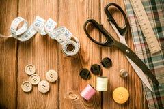 Objekt för att sy eller DIY Arkivbild