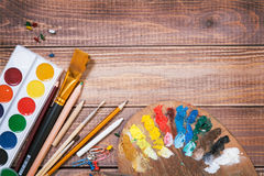 Objekt för barns kreativitet royaltyfria bilder