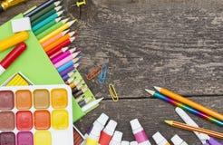 Objekt för barns kreativitet royaltyfri fotografi