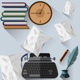Objekt för författare` s Arkivbild