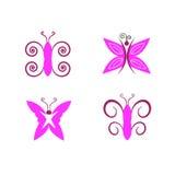 objekt för fjärilskontrolldesign mer mycket min liknande portföljserie stock illustrationer