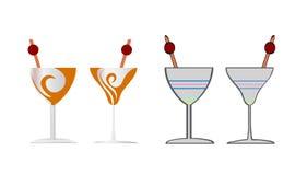 Objekt för illustration för design för coctailvektorsymbol Vektor Illustrationer
