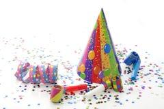 Objekt för nytt år för deltagarefödelsedag Arkivbild