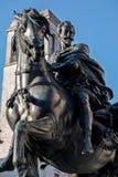 objekt för riddare för tecknad filmtecken rolig häst isolerade Royaltyfri Foto
