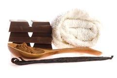 Objekt för Spa chokladaromatherapy royaltyfria foton
