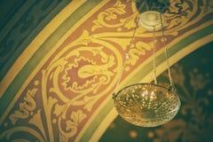 Objekt i en ortodox kyrka arkivfoton