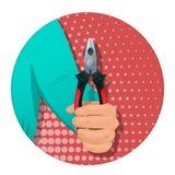 Objekt i mannen s hand-04 royaltyfri illustrationer
