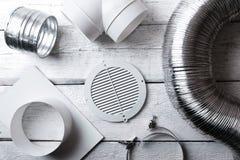 Objekt och skarvar för ventilationssystem Top beskådar arkivbilder