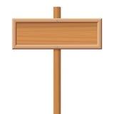 objekt över vitt trä för signboard Royaltyfri Foto