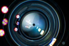Objektiv-Blenden-Nahaufnahme Lizenzfreie Stockbilder