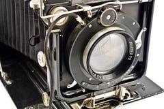 Objektiv der alten Foto-Kamera Stockfoto