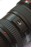 Objektiv des Digital-einzelnes Objektiv-Reflexes (DSLR) Stockfotografie