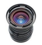 Objektiv im Winkel mit Ausschnittspfad Lizenzfreie Stockfotografie