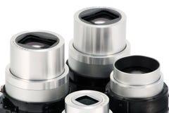 Objektiv-Maßeinheiten von den modernen Kameras stockfoto