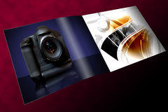 Objektiv und Kamera Stockfoto