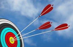 Objektiver Strategieerfolg des Zielpfeiles Lizenzfreie Abbildung