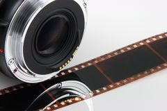 Objektivfilmstreifen lizenzfreies stockbild