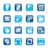 Objektsymboler för elektroniska apparater Arkivbild