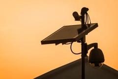 Objet à énergie solaire de panels images stock