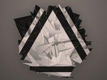 Objet abstrait blanc noir d'isolement Image stock